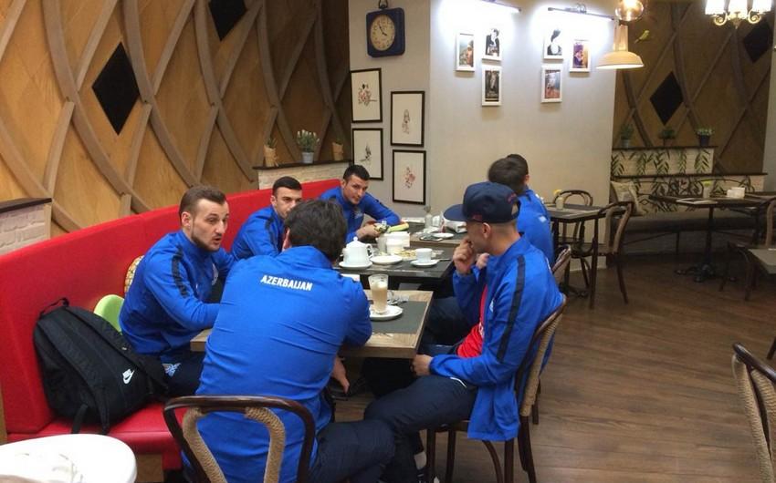 Сборная Азербайджана по футболу отправилась в Загреб - ФОТО