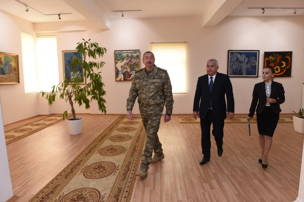 President Ilham Aliyev attended opening of State Art Gallery in Horadiz