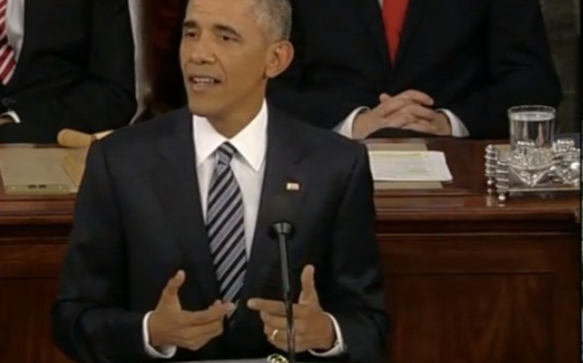 Barak Obama Konqresə son illik müraciətinə başlayıb - VİDEO