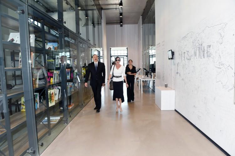 President Ilham Aliyev reviewed the first permanent place of YARAT Contemporary Art Center - PHOTO