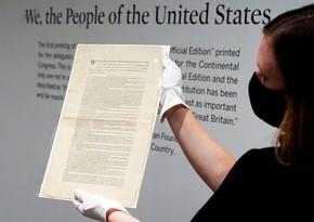 Редкий экземпляр Конституции США 1787 года выставят на торги