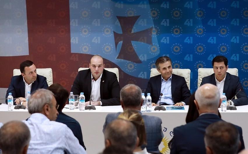 Gürcüstan hakim partiyası hökumətdəki dəyişiklikləri müzakirə edib