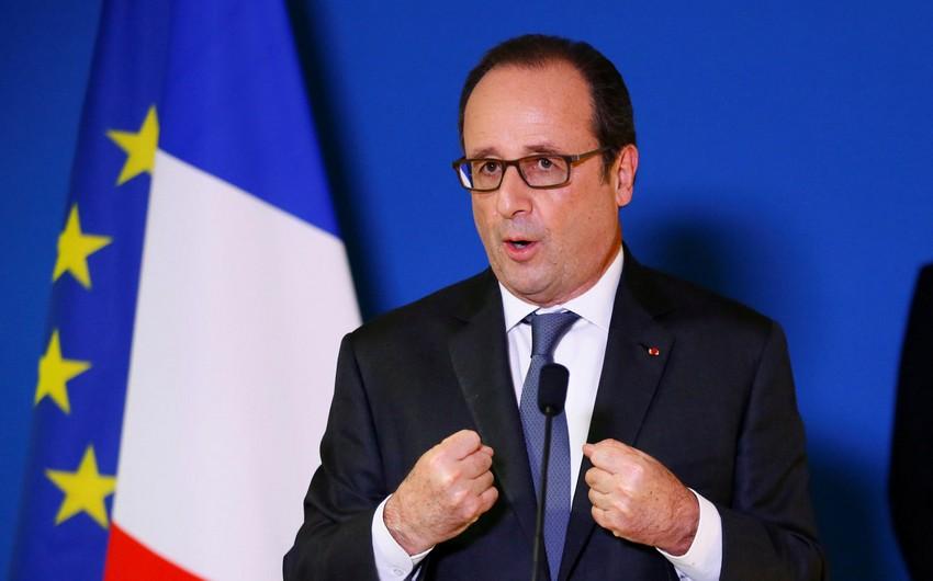 """Fransua Olland: """"Prezident seçkisi yalnız Fransanın deyil, Avropanın gələcəyini müəyyənləşdirəcək"""""""