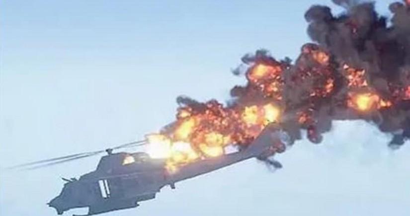 Çində yanğınsöndürən helikopter qəzaya uğradı