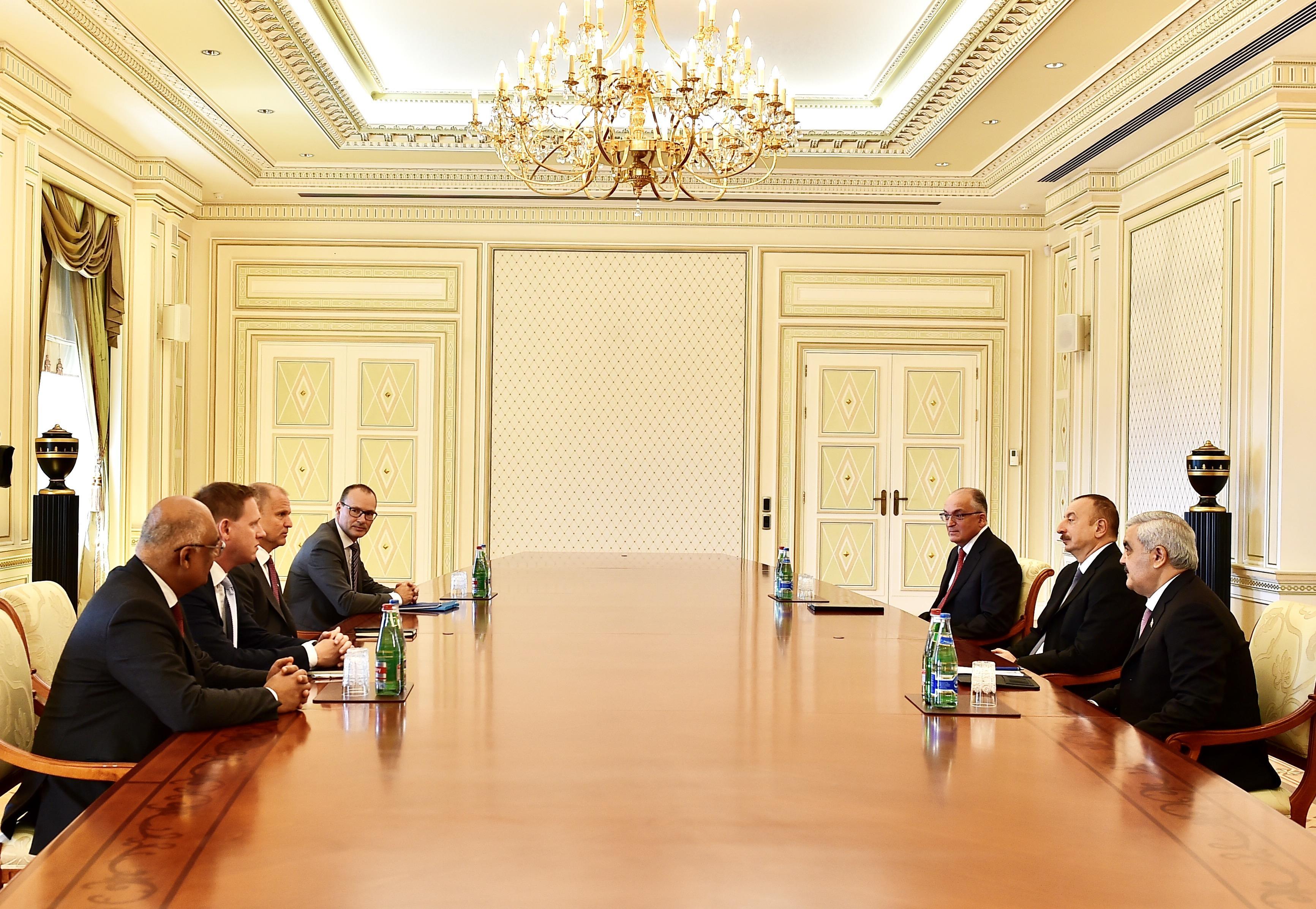 Президент Ильхам Алиев принял исполнительного вице-президента компании Statoil