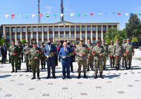 Rusiyalı general Beyləqanda 9 May - Qələbə Günü ilə bağlı tədbirdə iştirak edib