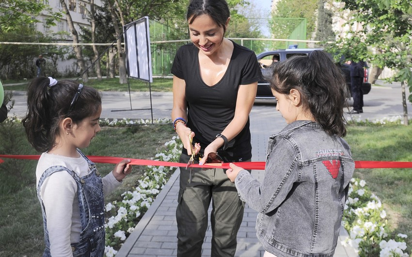 """Another yard redeveloped under """"Bizim həyət"""" project inaugurated in Baku"""