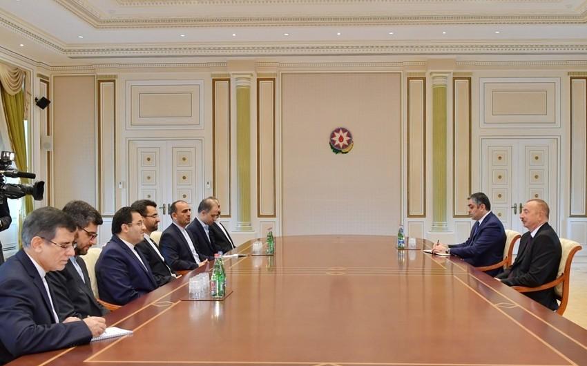 Prezident İlham Əliyev İranın rabitə və informasiya texnologiyaları nazirini qəbul edib