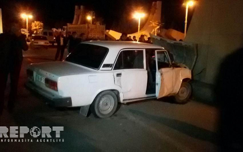 Goranboyda yol qəzası nəticəsində 1 nəfər xəsarət alıb
