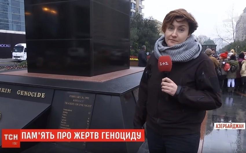 Ukraynanın tanınmış 1+1 telekanalı Xocalı soyqırımı haqqında geniş süjet yayımlayıb - VİDEO