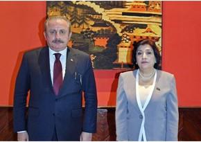 Azərbaycan və Türkiyə parlamentinin sədrləri beynəlxalq təşkilatlarda əməkdaşlığı müzakirə ediblər