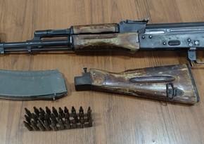 Xaçmaz sakinində silah-sursat aşkarlandı