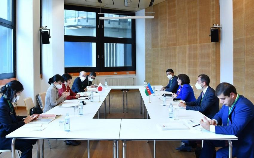 Sahiba Gafarova meets with President of House of Councillors of Japan