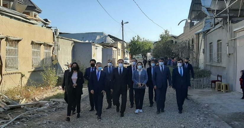Azerbaijani, Turkish ombudsmen pay visit to Ganja