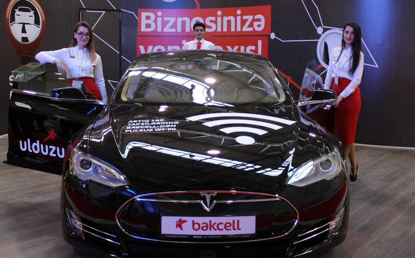 Bakcell şirkəti sərgidə ağıllı avtomobil təqdim edib