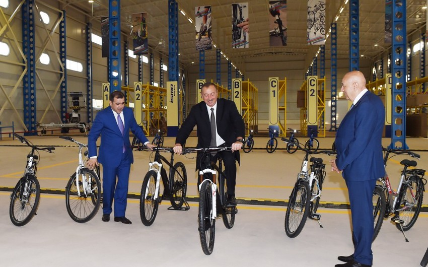 İsmayıllıda velosiped istehsalı zavodu açılıb