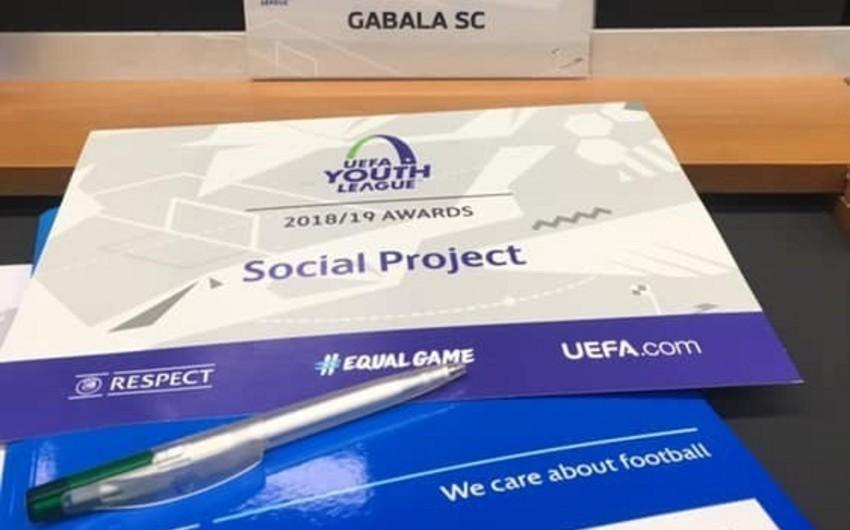 UEFA Qəbələ klubunu mükafatlandırıb