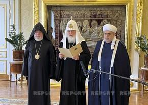 В Москве завершилась встреча религиозных лидеров Азербайджана, России и Армении