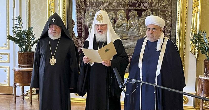 Azərbaycan, Rusiya və Ermənistan dini liderlərinin görüşü başa çatıb