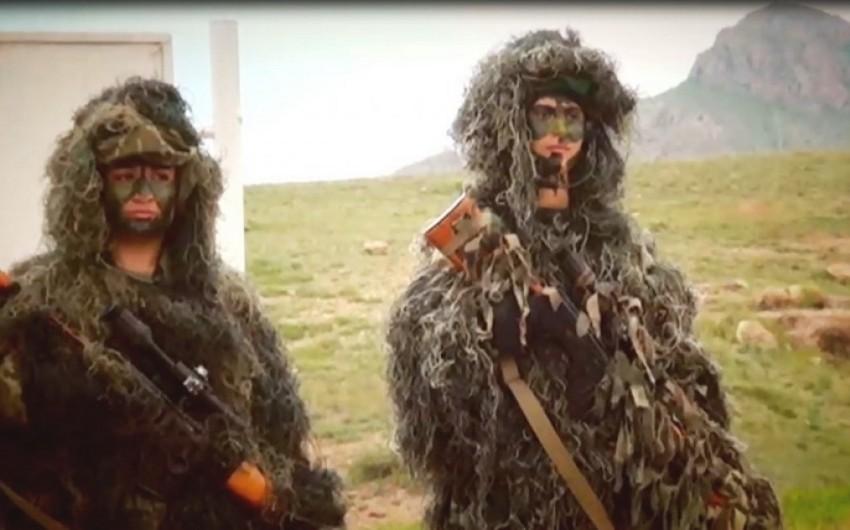 Naxçıvan ordusundakı xüsusitəyinatlı qadınlar - FOTO