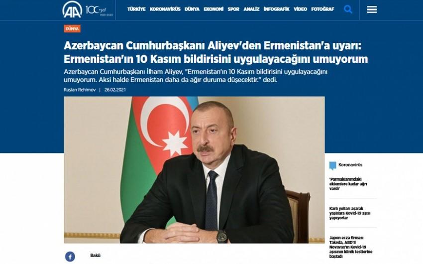 Prezident İlham Əliyevin mətbuat konfransı xarici ölkələrin mediasında geniş işıqlandırılıb