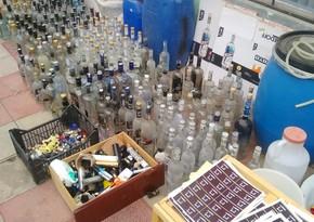 Bərdədə saxta alkoqollu içkilər istehsal edən müəssisə aşkarlandı