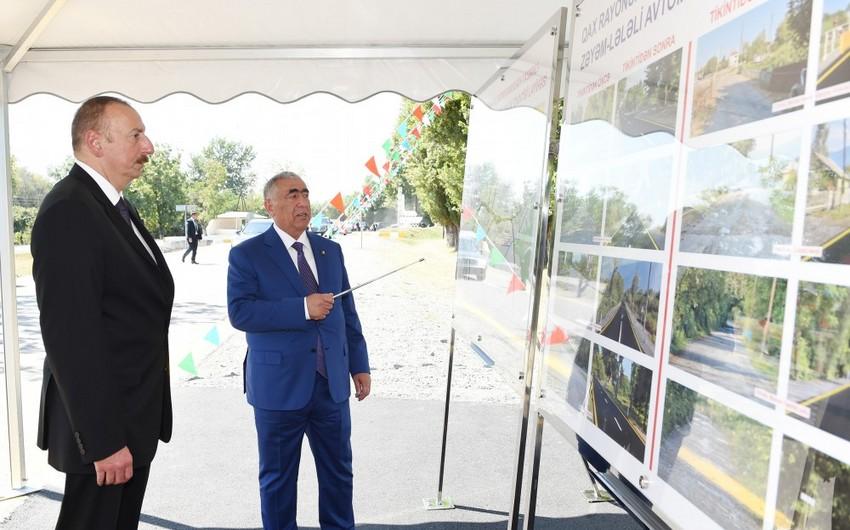 Prezident İlham Əliyev Qax rayonuna səfər edib