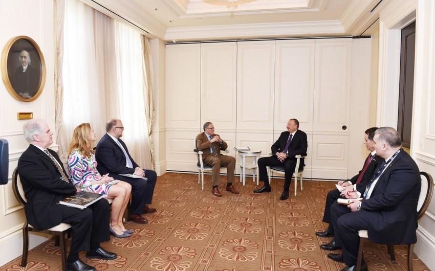 """Azərbaycan Prezidenti ABŞ-ın """"Export-Import"""" Bankının sədri və prezidenti ilə görüşüb"""