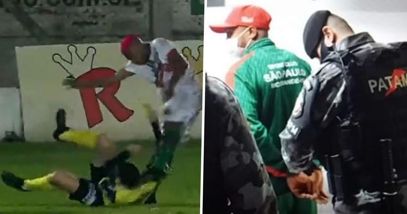 Braziliyada hakimi döyən müdafiəçi futboldan kənarlaşdırılıb