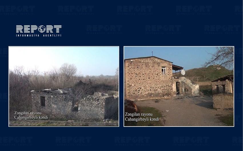 Видеокадры из села Джахангирбейли Зангиланского района