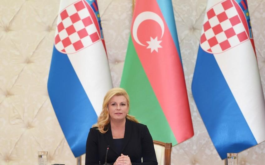 Xorvatiya prezidenti: Dağlıq Qarabağ münaqişəsi sülh və siyasi yolla həll olunmadır
