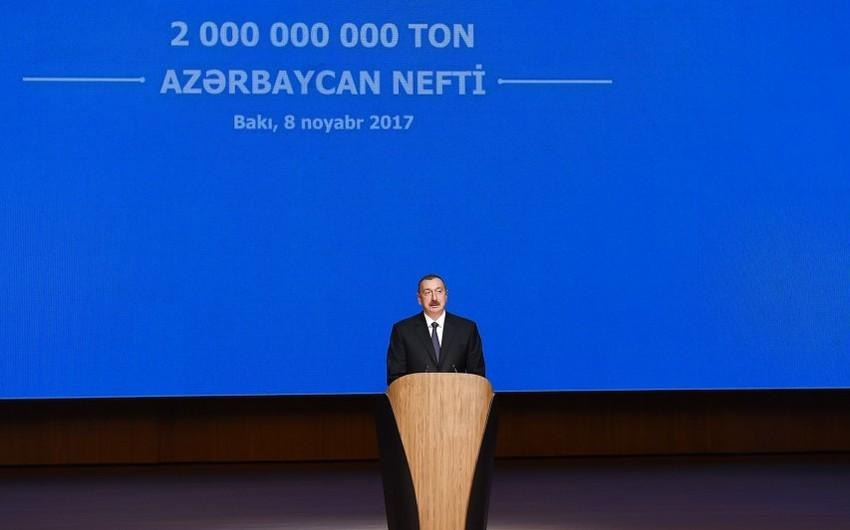 """Azərbaycan Prezidenti: """"Biz neft gəlirlərimizdən çox səmərəli şəkildə istifadə etdik"""""""