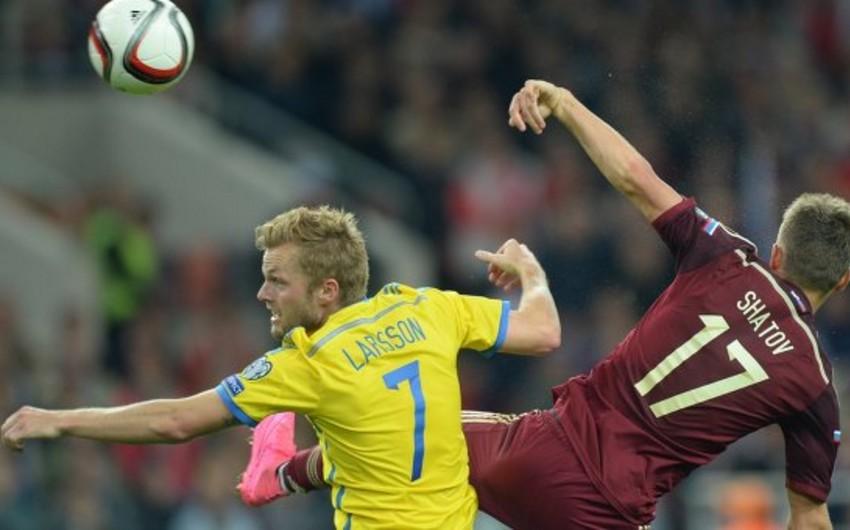 Футбол, отборочный матч ЧЕ: Россия-Швеция 1:0