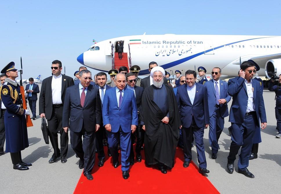 Президент Ирана прибыл в Азербайджан