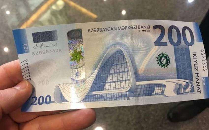Azərbaycanda 200 manatlıq əskinasların dövriyyədə olan həcmi kəskin artıb