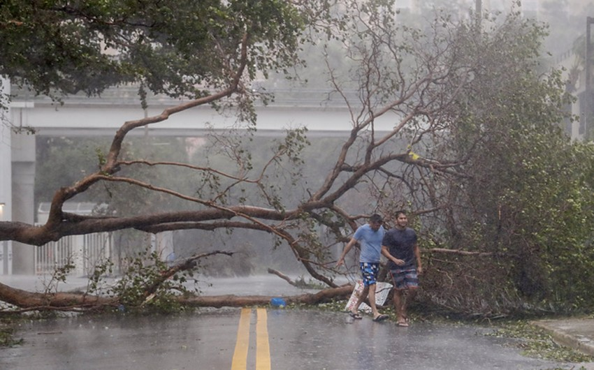 Floridada qasırğa nəticəsində 7 milyona yaxın insan işıqsız qalıb