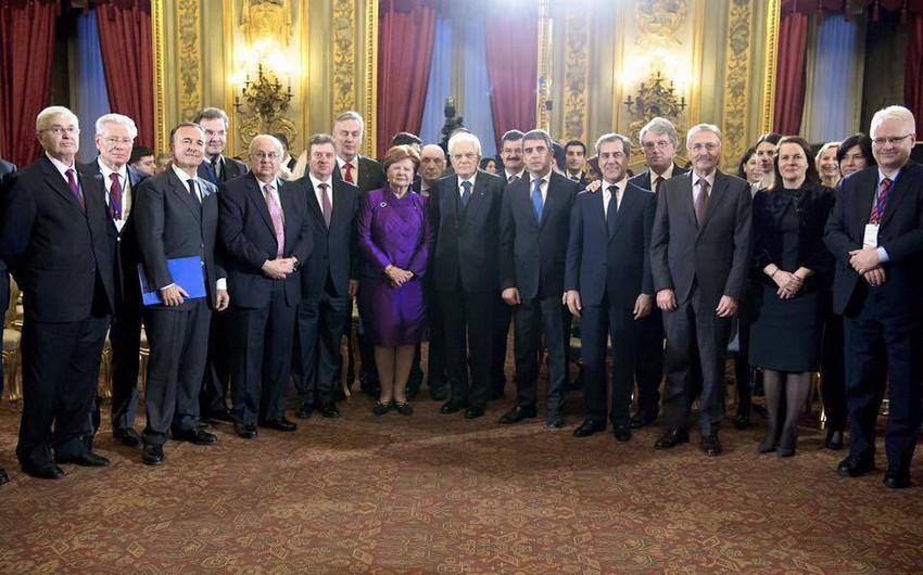 İtaliya Prezidenti Nizami Gəncəvi Beynəlxalq Mərkəzinin üzvlərini qəbul edib