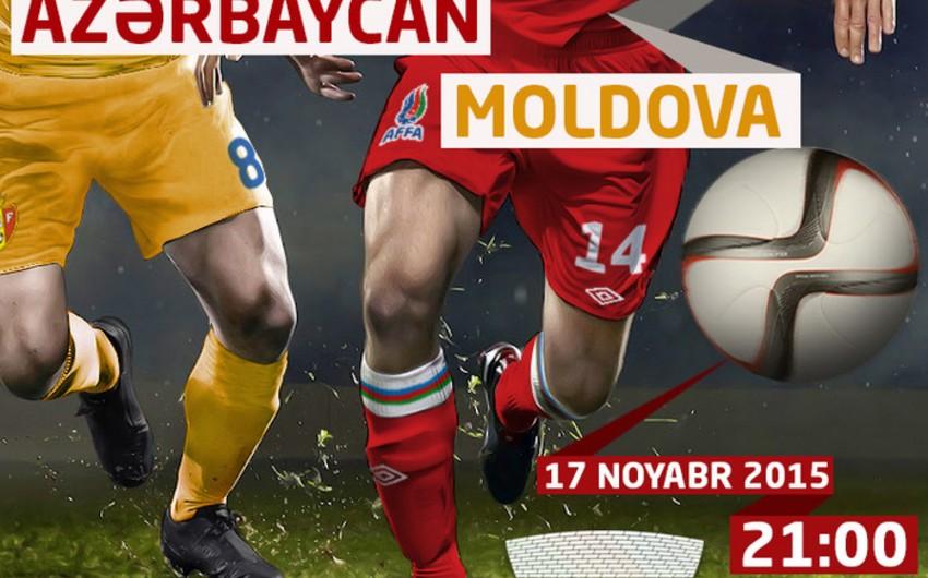 В продажу поступили билеты матча между сборными Азербайджана и Молдовы