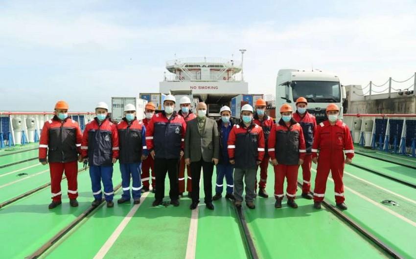 Azərbaycan gəmisi ilk səfərini başa vuraraq Bakı limanına qayıdıb