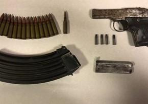 Biləsuvarda torpağa basdırılmış narkotik və silah-sursat aşkarlandı