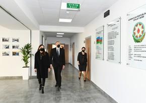 Президент и первая леди ознакомились с условиями, созданными в школе-лицее в городе Хырдалан - ОБНОВЛЕНО