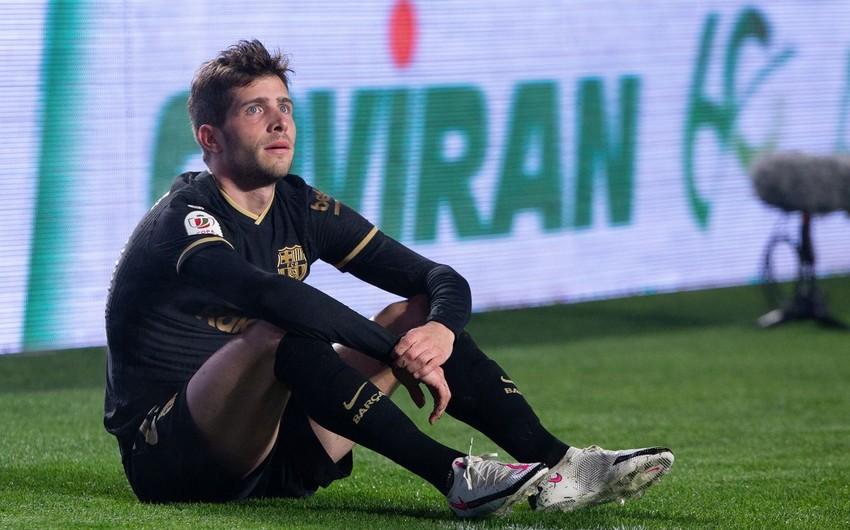 Barselonanın futbolçusu yenidən zədələndi