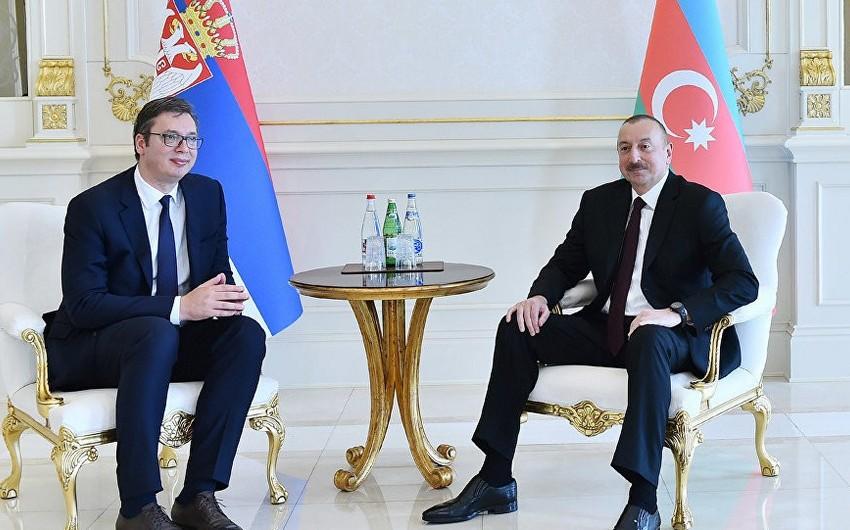 Serbiyanın dövlət başçısı Prezident İlham Əliyevə zəng edib