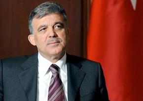 Abdullah Gül Prezident İlham Əliyevi təbrik edib