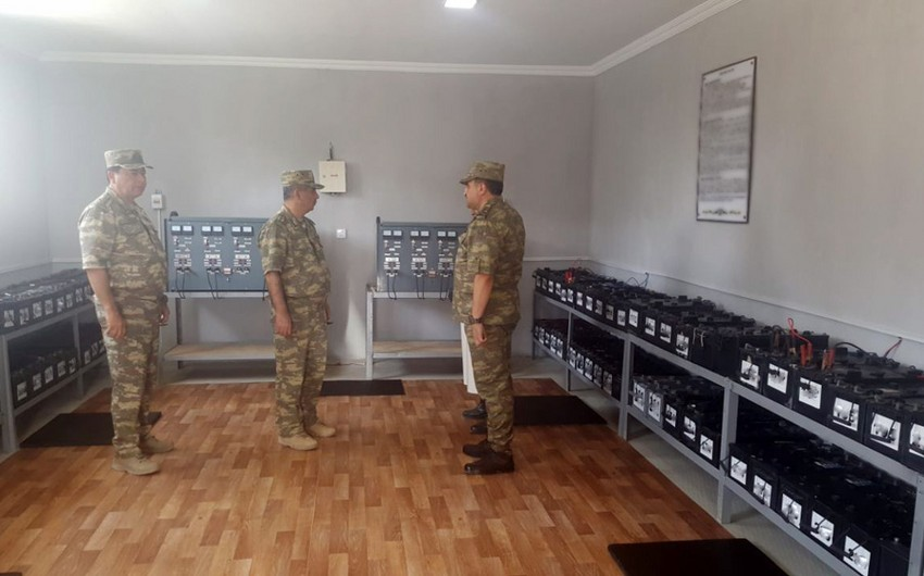 Azerbaijani Defense Minister attends opening of military facilities