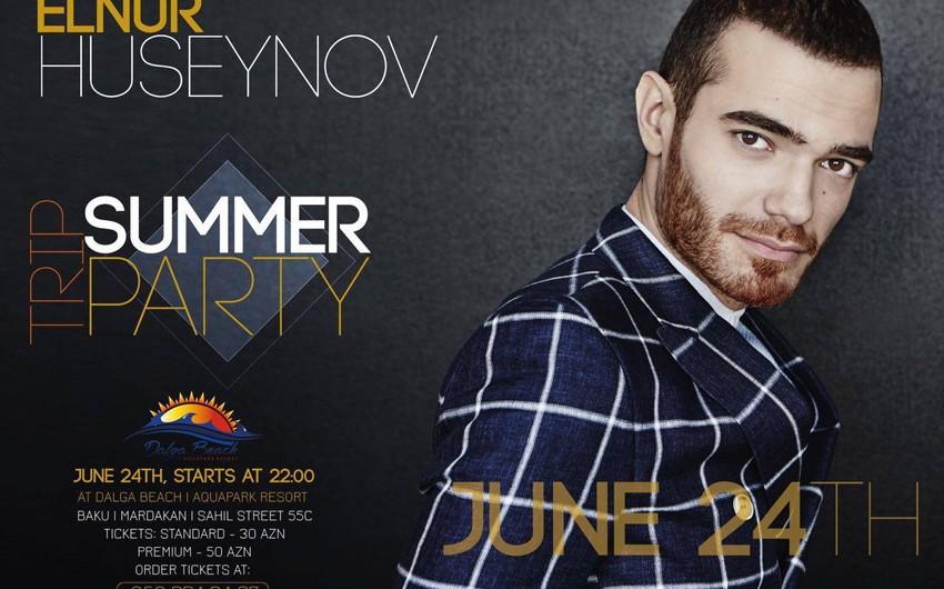 """""""Dalğa Beach-Aqua Park"""" istirahət mərkəzində Elnur Hüseynovun solo-konserti olacaq"""