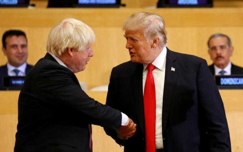 KİV: Boris Conson və Donald Tramp 2020-ci ildə ticarət sazişi imzalayacaqlar