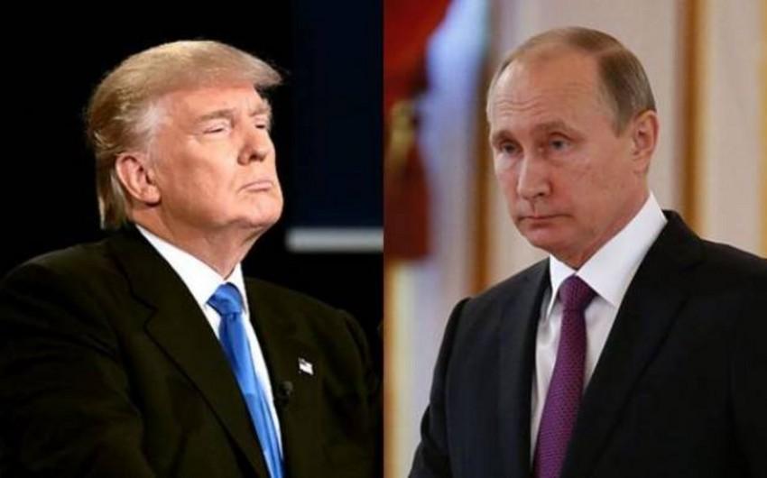 Trampla Putinin görüşünün tarixi açıqlanıb
