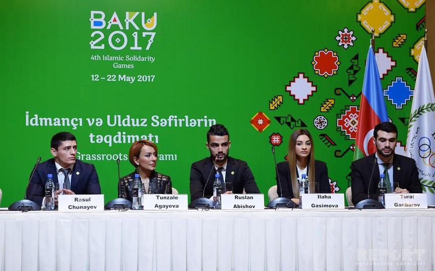 İslamiadanın idmançı və ulduz səfirlərinin iştirakı ilə mətbuat konfransı keçirilib