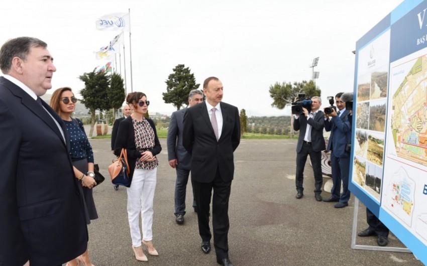 Президент Азербайджана принял участие в открытии Велопарка